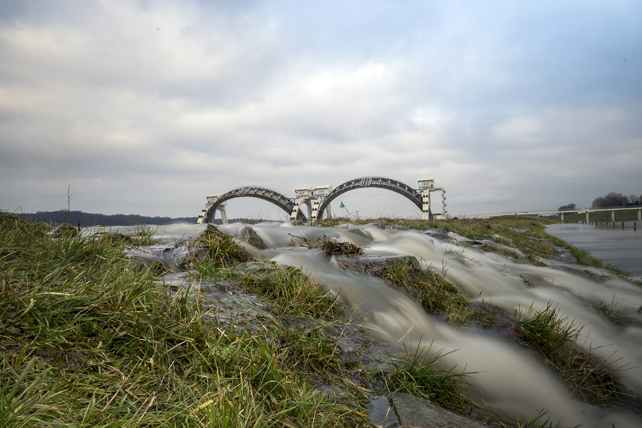 Hoogwater Lek en de Rijn